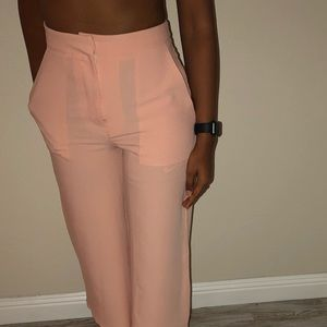 Blush pink culotte pants